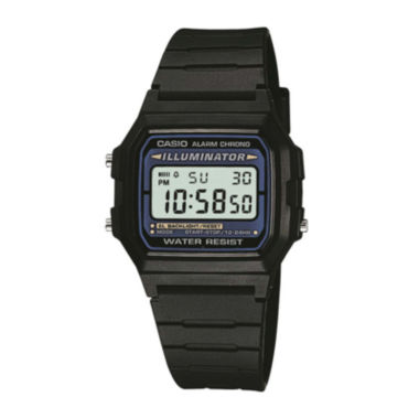 jcpenney.com | Casio® Illuminator Mens Square Black Resin Strap Digital Sport Watch F105W-1OS