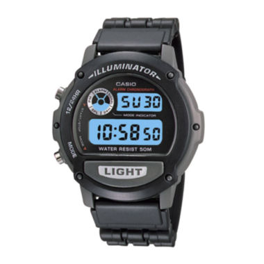 jcpenney.com | Casio® Illuminator Mens Black Resin Strap Chronograph Sport Watch W87H-1VOS