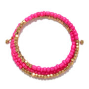 Delicates by PALOMA & ELLIE Pink and Gold-Tone Bead Coil Bracelet