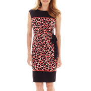 R&K Originals® Cap-Sleeve Side-Tie Dress
