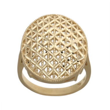 jcpenney.com | 14K Yellow Gold Oval Mesh Ring