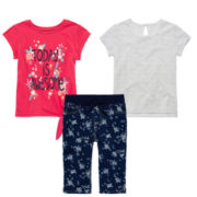 Arizona Tie-Front Tee, Lace Overlay Tee or Capri Jeggings – Toddler Girls 2t-5t