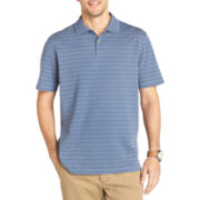 Van Heusen® Short-Sleeve Micropoly Grid Polo