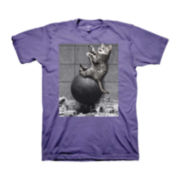 Cat Wrecking Ball Graphic Tee