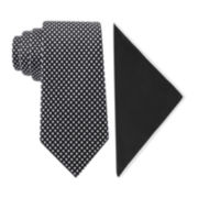 Glow in the Dark Tonal Check Tie and Pocket Square Set