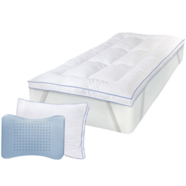 jcpenney.com | SensorPEDIC® MemoryLOFT® Deluxe Mattress Topper with Gel plus BONUS Pillow