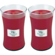 WoodWick® Set of 2 Large Currant Candles