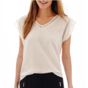 MNG by Mango® Short-Sleeve Crochet-Trim Top