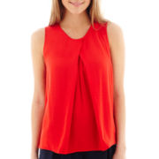 MNG by Mango® Sleeveless Pleat-Front Top