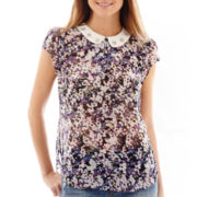I 'Heart' Ronson® Short-Sleeve Floral Ditsy Print Top