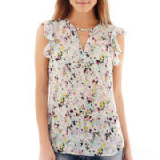 I 'Heart' Ronson® Short-Sleeve Floral Print Top