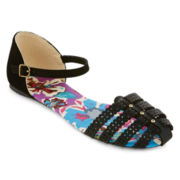 Mixit™ Strappy Perforated Mary Jane Sandals