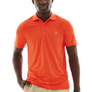 IZOD® Golf Short-Sleeve Solid Grid Polo