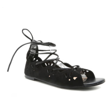 jcpenney.com | Qupid Kerr Ankle-Tie Peep-Toe Womens Sandals