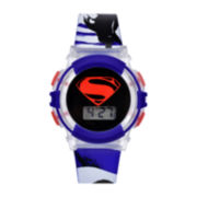 DC Comics® Blue Superman Strap Watch