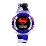 DC Comics® Blue Superman Strap Watch