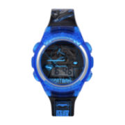 DC Comics® Blue and Black Batman Strap Watch