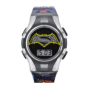 DC Comics® Superman and Batman Graphic Grey Strap Kids Digital Watch