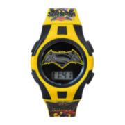 DC Comics® Superman and Batman Graphic Yellow Strap Kids Digital Watch