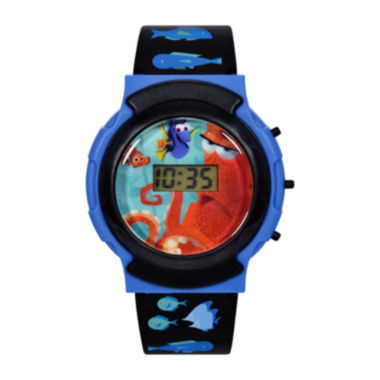 jcpenney.com | Disney@Finding Dory Graphic Black Plastic Strap Flashing LCD Kids Watch