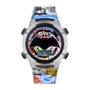DC Comics® Batman Graphic Plastic Strap LED Boys Watch