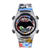 DC Comics® Batman Graphic Plastic Strap LED Boys Watch