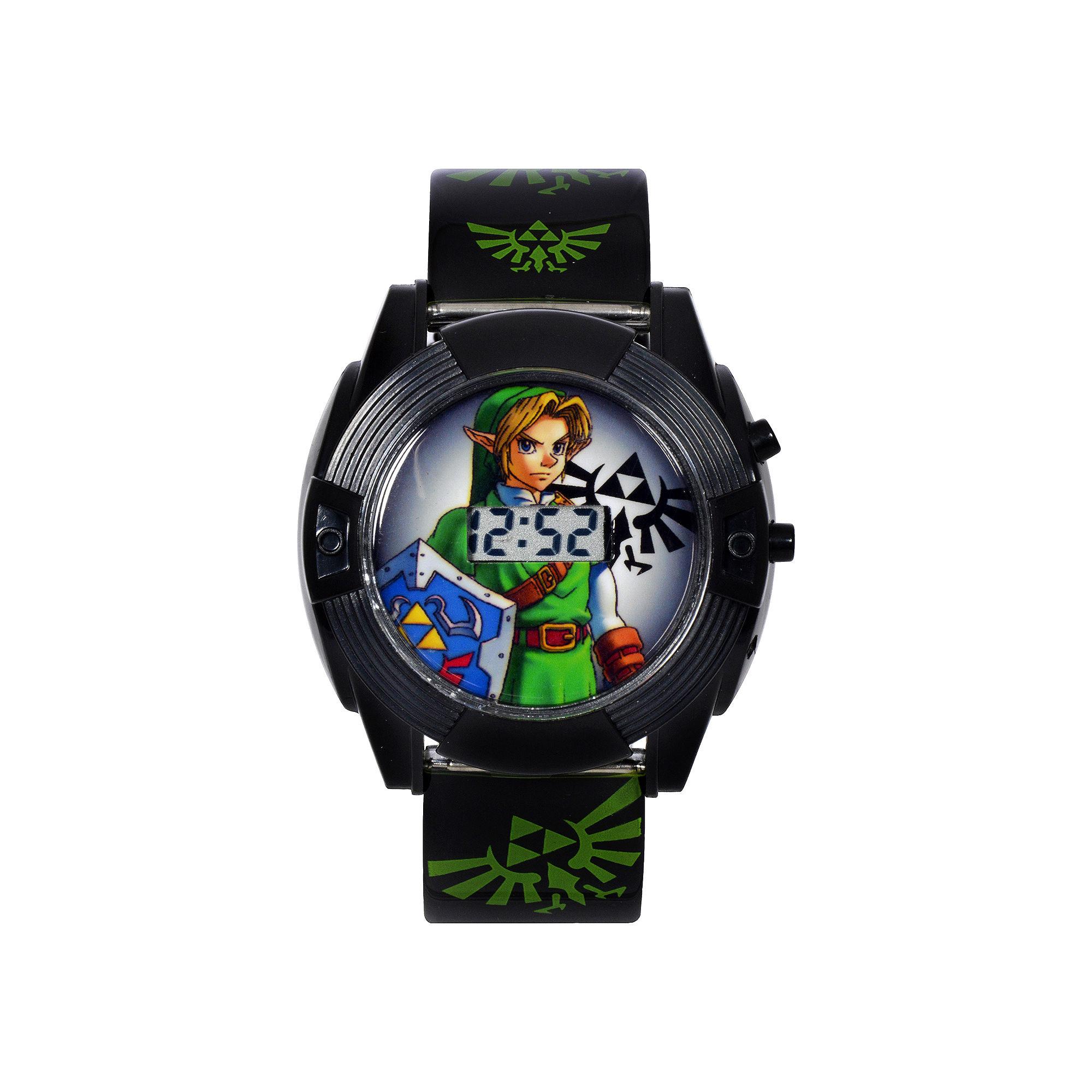 Nintendo Legend Of Zelda Graphic Black Strap LED Boys Watch