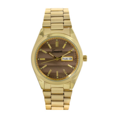 jcpenney.com | Geneva Womens Gray Dial Gold-Tone Strap Bracelet Watch