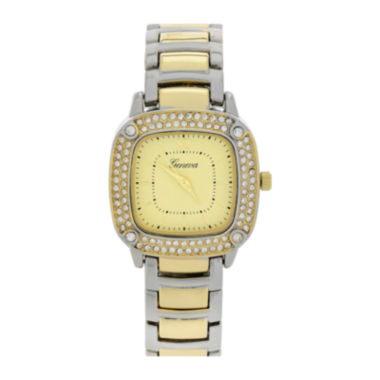 jcpenney.com | Geneva Womens Square-Face Two-Tone Bracelet Watch