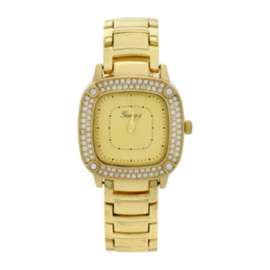 jcpenney.com | Geneva Womens Square-Face Gold-Tone Bracelet Watch