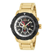 Invicta® Reserve Mens Black Dial Stainless Steel Bracelet Watch