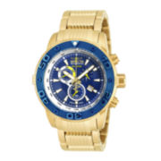 Invicta® Reserve Mens Blue Dial Stainless Steel Bracelet Watch