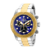 Invicta® Pro Diver Mens Two-Tone Stainless Blue Dial Watch
