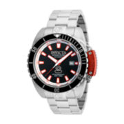Invicta® Pro Diver Mens Stainless Steel Black Dial Bracelet Watch