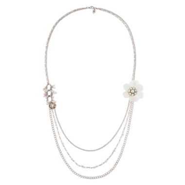 jcpenney.com | Messages from the Heart® by Sandra Magsamen® Cubic Zirconia Flower Necklace