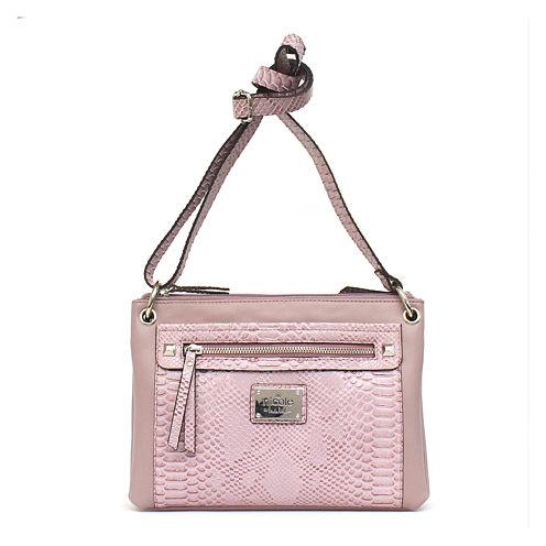 nicole By Nicole Miller Tess Double Zip Crossbody Bag