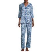 Warm Milk by Bedhead 3/4-Sleeve Notch Pants Pajama Set