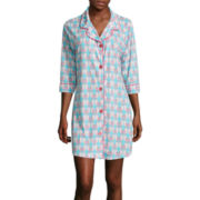 Warm Milk by BedHead Pajamas 3/4-Sleeve Button-Front Nightshirt