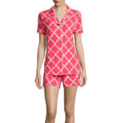Warm Milk by BedHead Short-Sleeve Top and Shorts Pajama Set
