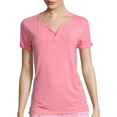 jcpenney.com | Cool Girl Short-Sleeve One-Button Cuffed Nightshirt