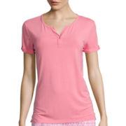 Cool Girl Short-Sleeve One-Button Cuffed Nightshirt