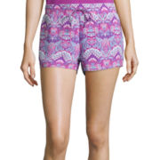 Black Butterfly Print Sleep Shorts