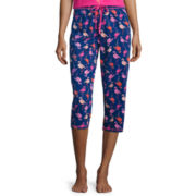Sleep Chic Printed Capri Pajama Pants