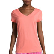 Liz Claiborne® Short-Sleeve V-Neck Sleep Tee