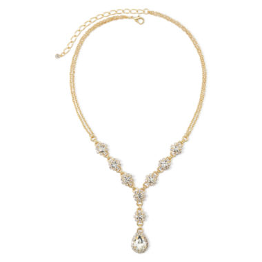 jcpenney.com | Vieste® Crystal Gold-Tone Flower and Teardrop Necklace