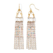 Vieste® Crystal Gold-Tone Chandelier Earrings