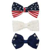 Arizona American Flag and Star Hair Bows