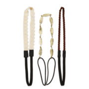 Decree® 3-pc. Simulated Pearl Lace Headband Set
