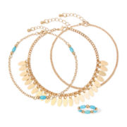 Arizona Gold-Tone Anklet and Toe Ring Set
