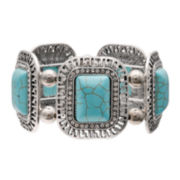 Mixit™ Rectangular Aqua Stone Stretch Bracelet